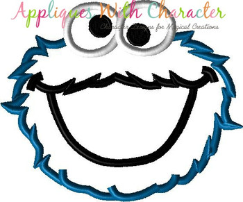 Cookie Monster Applique Design