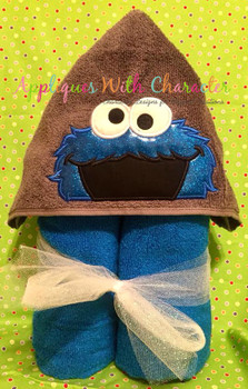 Cookie Monster Peeker Applique Design