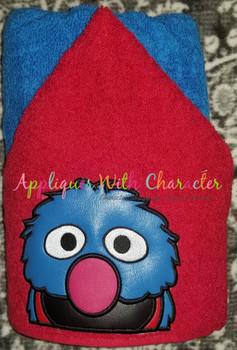 Grover Peeker Applique Design