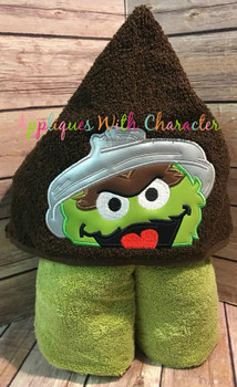 Oscar the Grouch Peeker Applique Design