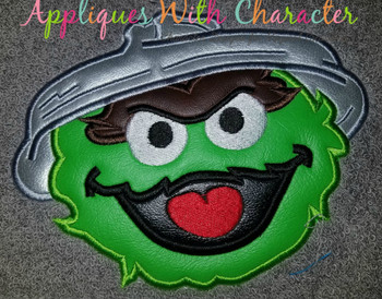 Oscar the Grouch Applique Design