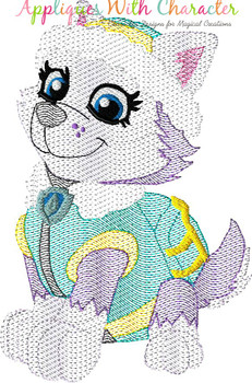 Pup Patrol Everi Sketch Embroidery Design