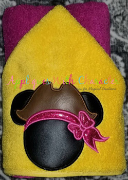 Miss Mouse Pirate Applique Design