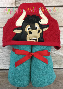 Ferdinend the Bull Peeker Applique Design