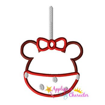 Miss Mouse Candy Apple Applique Design