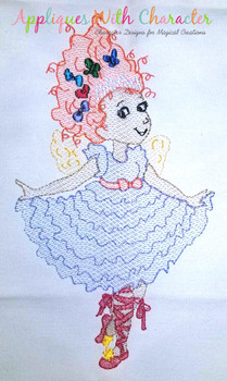 Fancy Nancie Sketch Embroidery Design