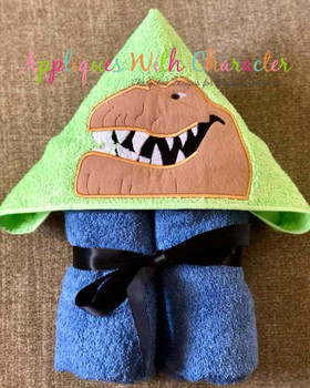 Butch Good Dinosaur Trex Peeker Applique Design