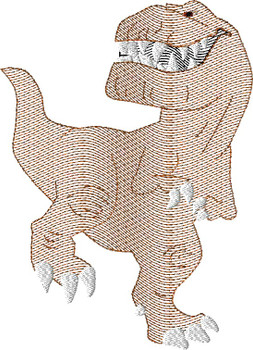 Butch Good Dinosaur T- Rex Sketch Embroidery Design
