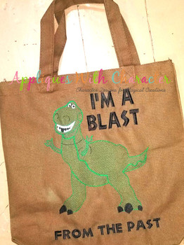 Toy Story Rex Dinosaur Toy Sketch Embrodiery Design
