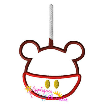 Mr Mouse Candy Apple Applique Design
