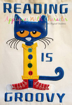 Peter the Cat Applique Design