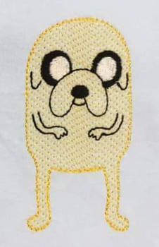 Finn and Jake's Jake Sketch Embroidery Design