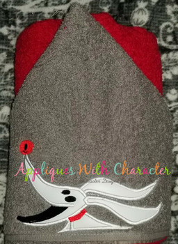 Nightmare Before Christmas Zero Peeker Applique Design