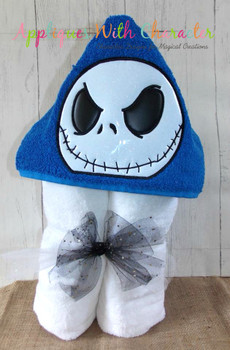 NIghtmare Before Christmas Jack Skeleton Peeker Applique Design