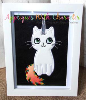 Caticorn Cat/Unicorn Applique Design