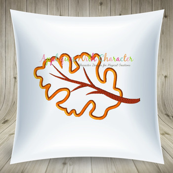 Fall Leaf Applique Design
