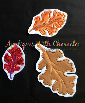 Fall Leaf Applique Design