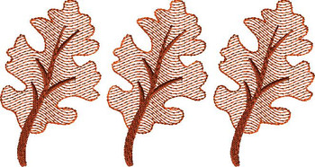 Fall Leaf Trio Sketch Embroidery Design