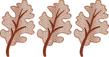 Fall Leaf Trio Bean Stitch Design