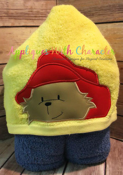 Paddy Bear Peeker Applique Design
