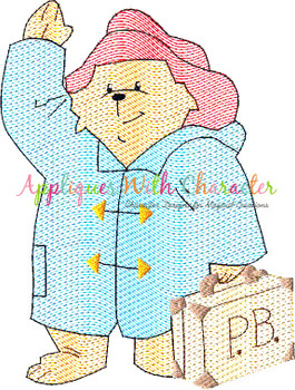 Paddy Bear Sketch Embroidery Design