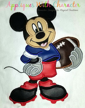 Mr. Mouse Football Applique Design
