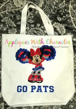 Miss. Mouse Cheerleader Applique Design