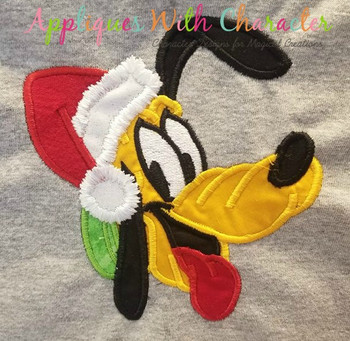Christmas Santa Plooto Applique Design
