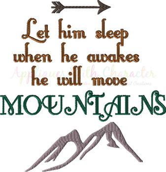 He Will Move Mountains Embroidery Design