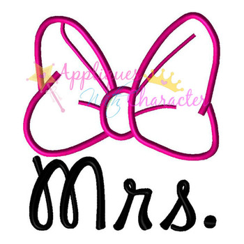 Miss Mouse Mrs. Applique Design