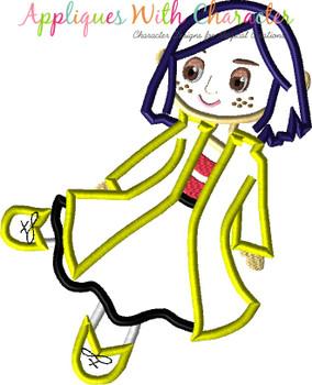 Cori Doll Non Scary Applique Design