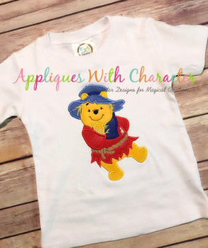 Honey Bear Scarecrow Applique Design