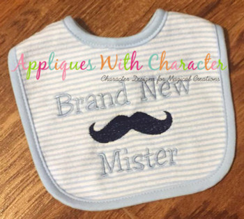 Brand New Mister Embroidery Design