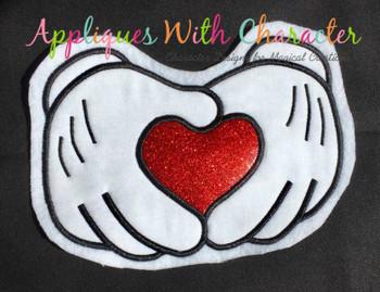 Mr Mouse Hands Applique Design