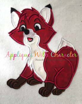Tod Fox Applique Design