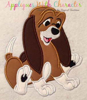 Copper Hound Applique Design