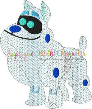 Puppy Friends Arf Bean Stitch Design