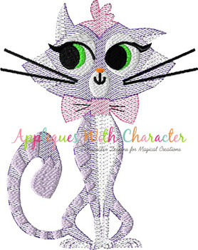 Puppy Friends Hissy the Cat Sketch Embroidery Design