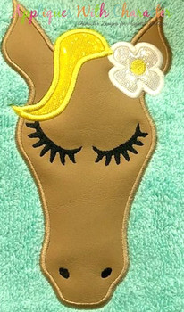 Horse Full Face Applique Design