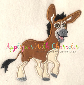 Bo the Donkey Applique Design