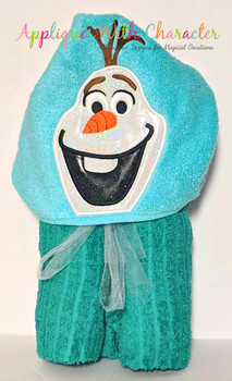 Frozen Olaf Snowman Peeker Applique Design