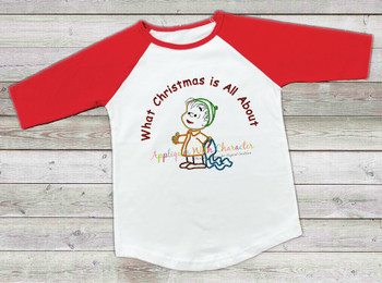 Peanuts Christmas Linos Applique Design Christmas Message
