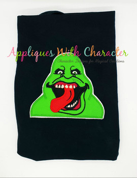 Ghost Slimer Peeker Applique Design