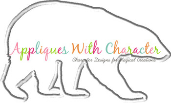 Polar Bear Applique Design