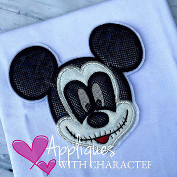 Mr Mouse Halloween Applique Design