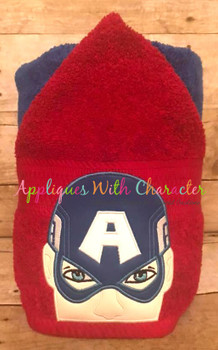 America Hero Peeker Applique Design