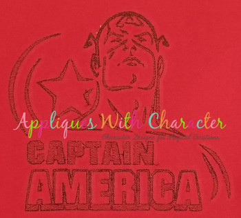 America Hero Bean Stitch Design