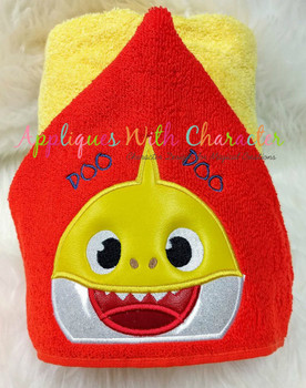 Baby Shark Peeker Applique Design