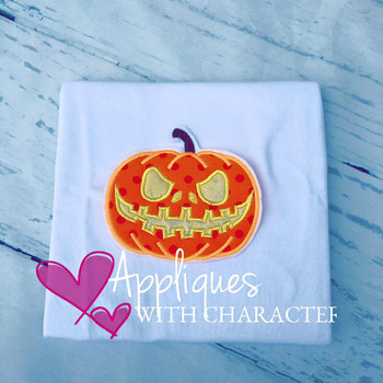Halloween Pumpkin  Applique Design