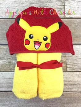Poke Pikachu Peeker Applique Design